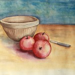 Bowl--apples