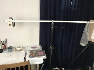 overhead video arm